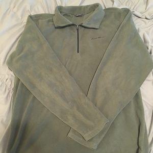 Olive Green Quarter Zip Fleece